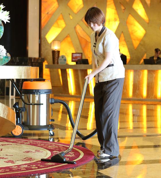 亿力吸尘器在宾馆酒店中的应用:吸地毯