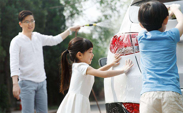 家用洗车机的现场图片
