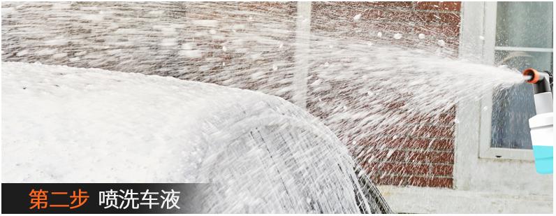 亿力洗车机洗车步骤:喷洗车液