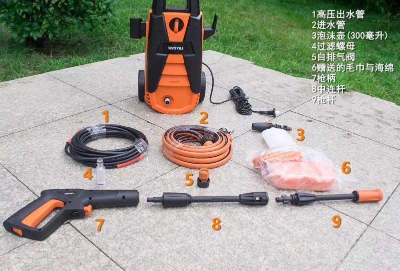 亿力高压洗车机YLQ4630C-120C组件展示